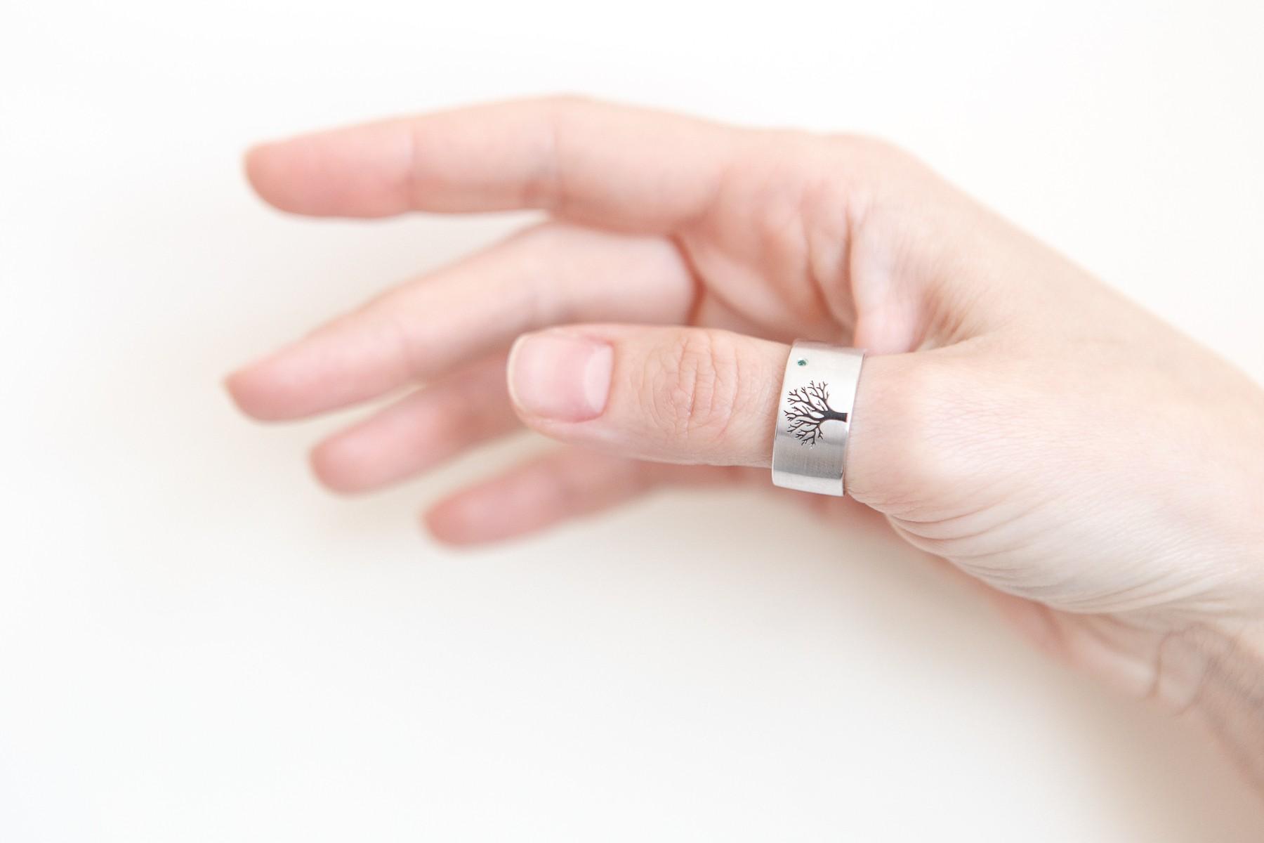 Dari Jewelry — «Emerald tree» wedding rings